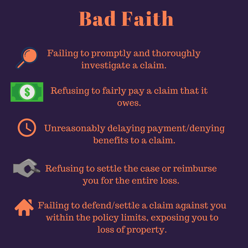Bad Faith Attorney Tampa